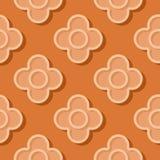 Fond orange géométrique sans couture modèle du cercle 3d illustration stock
