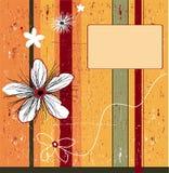 Fond orange grunge de fleur. illustration stock