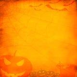 Fond orange grunge de Veille de la toussaint Images libres de droits