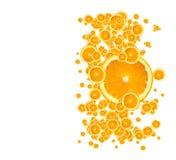 Fond orange juteux Photographie stock
