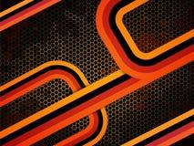 Fond orange moderne Images stock