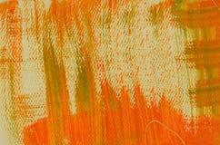 Fond orange multicouche peint à la main avec des éraflures Photographie stock
