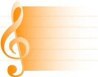 Fond/orange musicaux/ENV illustration stock