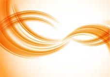 Fond orange ondulé illustration stock