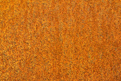 Fond orange rouillé en métal Photos stock
