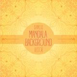 Fond orange sans couture de vecteur de mandala Photo libre de droits