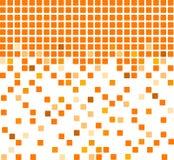 Fond orange simple de mosaïque Photos libres de droits