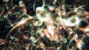 Fond organique abstrait graphique de flamme de fractale illustration de vecteur