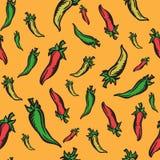 Fond orienté mexicain avec des poivrons de jalapeno Photos stock