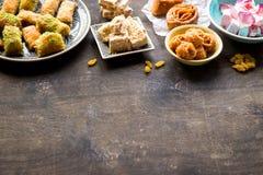 Fond oriental de desserts Photographie stock