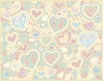 Fond original de forme de coeur de dessin de main illustration stock