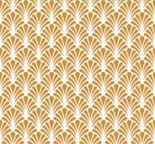 Fond ornemental d'or japonais de vecteur Art Deco Floral Seamless Pattern Texture décorative géométrique Illustration Libre de Droits
