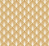 Fond ornemental d'or japonais de vecteur Art Deco Floral Seamless Pattern Texture décorative géométrique Photo libre de droits
