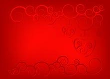Fond ornemental de coeur Photographie stock libre de droits
