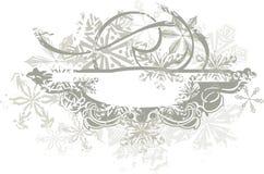 Fond ornemental de l'hiver illustration stock