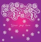 Fond ornemental de Noël, chutes de neige Images libres de droits