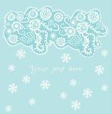Fond ornemental de Noël, chutes de neige Image libre de droits
