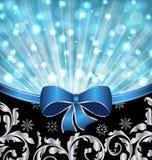 Fond ornemental de Noël, conception rougeoyante Photographie stock
