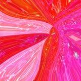 Fond ornemental de vague de biais de résumé dans le modèle rose et orange au néon avec l'effet en verre souillé Photographie stock