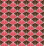Fond ornemental japonais de vecteur Art Deco Floral Seamless Pattern Texture décorative géométrique Images libres de droits