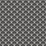 Fond ornemental japonais de vecteur Art Deco Floral Seamless Pattern Texture décorative géométrique illustration libre de droits