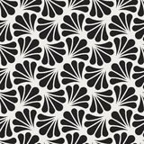 Fond ornemental japonais de vecteur Art Deco Floral Seamless Pattern Texture décorative géométrique Photographie stock