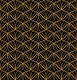 Fond ornemental japonais de vecteur Art Deco Floral Seamless Pattern Texture décorative géométrique Photos libres de droits