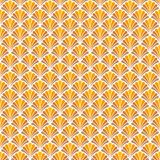 Fond ornemental japonais de vecteur Art Deco Floral Seamless Pattern Texture décorative géométrique Photo libre de droits