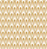 Fond ornemental japonais de vecteur Art Deco Floral Seamless Pattern Texture décorative géométrique Photo stock
