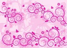 Fond ornemental rose Photographie stock libre de droits