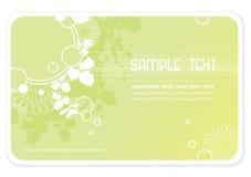 Fond ou affaire-carte floral illustration de vecteur