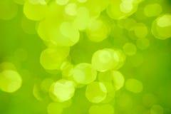 Fond ou bokeh abstrait brouillé par vert Image stock