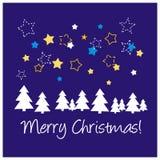 Fond ou carte de Noël bleu Photos libres de droits