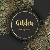 Fond ou carte moderne d'or de luxe Illustration de Vecteur