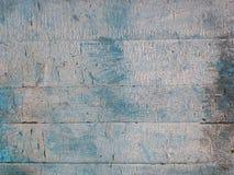 Fond ou concept, vieux panneaux en bois en vieille peinture criquée, bleu et blanc images libres de droits