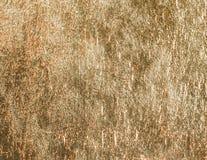 Fond ou modèle brillant de texture d'aluminium d'or photographie stock libre de droits