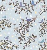 Fond ou papier peint bleu sans couture Images libres de droits