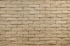 Fond ou texture de mur de briques brun clair de couleur Image libre de droits