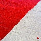 Fond ou texture du conseil en bois peint blanc rouge en gros plan Image stock