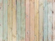 Fond ou texture en bois avec le pastel de planches coloré images libres de droits