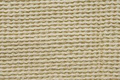 Fond ou texture jaune de tissu Images libres de droits