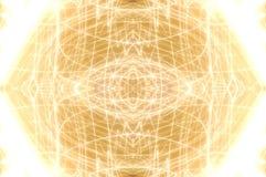 Fond ovale d'or brillant Photos libres de droits