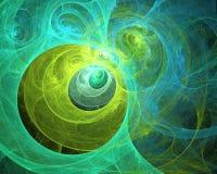 Fond pétillant de fractale de remous multicolore Composition artistique lumineuse abstraite en mouvement Bio modèle dynamique fut images libres de droits