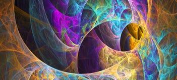 Fond pétillant de fractale de remous multicolore Composition artistique lumineuse abstraite en mouvement Bio modèle dynamique fut image libre de droits