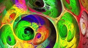Fond pétillant de fractale de remous multicolore Composition artistique lumineuse abstraite en mouvement Bio modèle dynamique fut image stock
