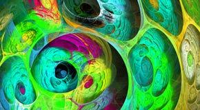 Fond pétillant de fractale de remous multicolore Composition artistique lumineuse abstraite en mouvement Bio modèle dynamique fut photo libre de droits