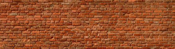 Fond panoramique de mur de briques Image libre de droits