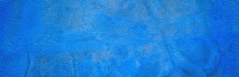 Fond panoramique texturisé de plâtre bleu décoratif illustration de vecteur