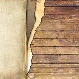 Fond papier et en bois Photos libres de droits
