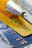 Fond par la carte de crédit photographie stock